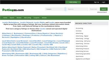 Postingzz.com - National to local product related information listings.